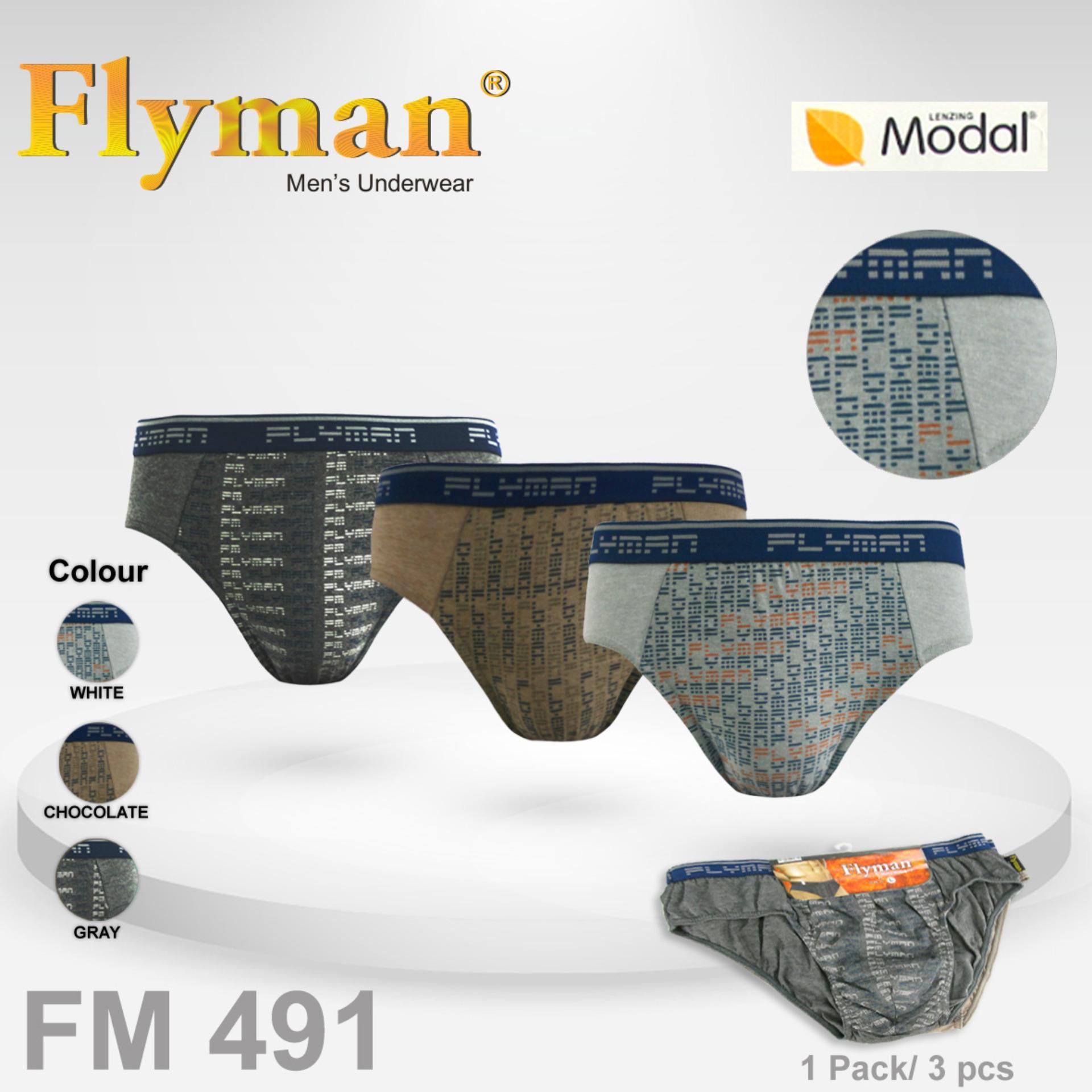 [Isi 3 Pcs] Celana Dalam Flyman FM 491